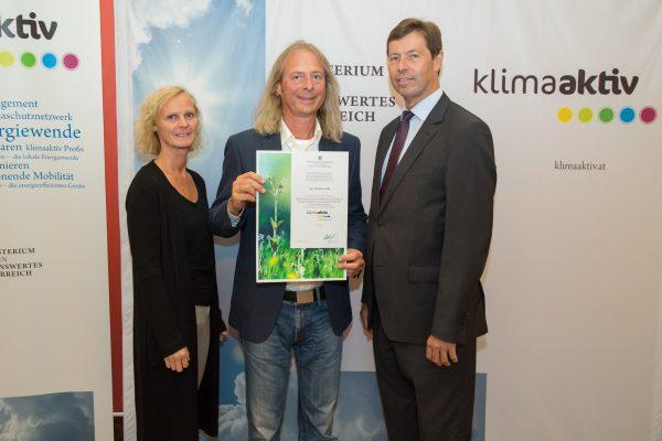 Andrea Höltl (Donau-Universität Krems), Claudius Wolf, Sektionschef Günter Liebel (BMLFUW)